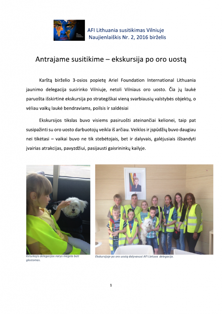 AFI LIthuania Newsletter2 - 6 July 2016_000001