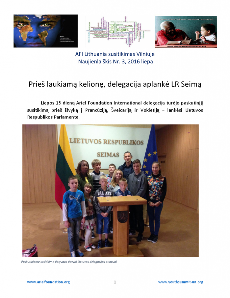 AFI Lithuania Newsletter 3 - 15 July 2016_000001